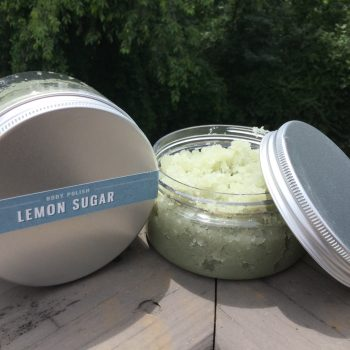 Lemon sugar body polish made in South Carolina by The Herb Garden